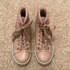 Nude/Pink Aldo high top sneakers Women's 7.5